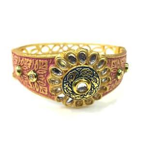 【送料無料】ブレスレット アクセサリ― kundanmeenakariブレスレットal02510kundan high quality handmade meenakari bracelet al02510
