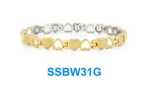 【送料無料】ブレスレット アクセサリ― ゴールド ステンレスリンクgold open and close heart women magnetic stainless steel link bracelet