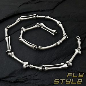 【送料無料】ブレスレット アクセサリ― pulsera collar huesos esqueleto acero inoxidableplatagoticoメタルロック