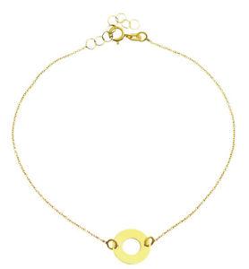 【送料無料】ブレスレット アクセサリ― ペンダントブレスレットイェローゴールド3338ktbracelet yellow gold with pendant ring 333 8kt