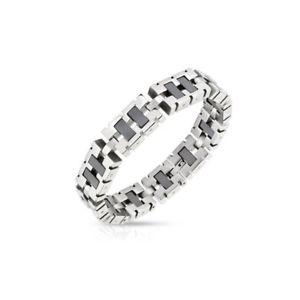 【送料無料】ブレスレット アクセサリ― ブレスレットステンレススチールリンクbracelet stainless steel links rectangular