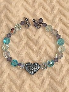【送料無料】ブレスレット アクセサリ― ハートビーズブレスレットkirks folly blue heart bead bracelet