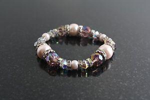 【送料無料】ブレスレット アクセサリ― ブレスレット ピンクstretch bracelet pink sands