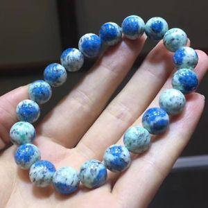 【送料無料】ブレスレット アクセサリ― ラウンドビーズブレスレット10mm natural k2 azurite rubbish stone gemstone round beads bracelet aaa