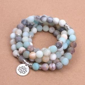 【送料無料】ブレスレット アクセサリ― women`sマットロータスomブッダfashion womens bracelet matte frosted beads with lotus om buddha