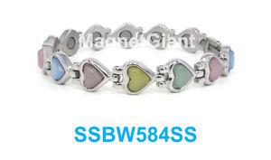 【送料無料】ブレスレット アクセサリ― マルチカラーステンレスmulticolor cats eye gemstone women magnetic stainless steel bracelet