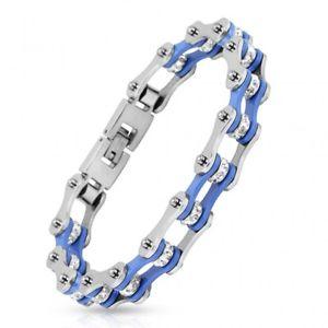 【送料無料】ブレスレット アクセサリ― ステンレスチェーンオートバイman bracelet stainless steel chain motorcycle blue