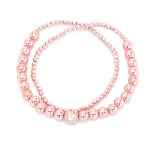 【送料無料】ブレスレット アクセサリ― ドードーソリッドピンクローズゴールドメッキビーズチェーンブレスレットdodo 88 solid pink rose gold plated bead chain anklet bracelet