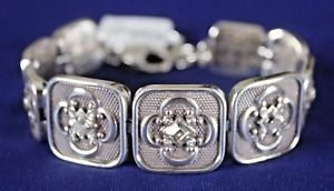 【送料無料】ブレスレット アクセサリ― ブライトンシルバークリスタルリンクアジャスタブルブレスレットbrighton bougado silver crystal link adjustable bracelet nwt