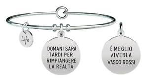 【送料無料】ブレスレット アクセサリ― ブレスレットスチールヴァスコロッシyoung adult bracelets steel vasco rossi tomorrow is late 731466