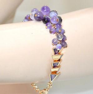 【送料無料】ブレスレット アクセサリ― ブレスレットライラックゴールドスタイリッシュブレスレットwomen bracelet stones purple lilac wisteria gold golden stylish bracelet gp15