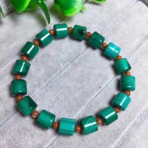 【送料無料】ブレスレット アクセサリ― マラカイトバレルビーズブレスレットgenuine natural malachite chrysocolla barrel beads gems bracelet 9x8mm aaaa