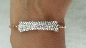 【送料無料】ブレスレット アクセサリ― ブレスレットゴールド1サイズwomen bracelet,brand , gold plated, pave crystal stone, adjustable,one size