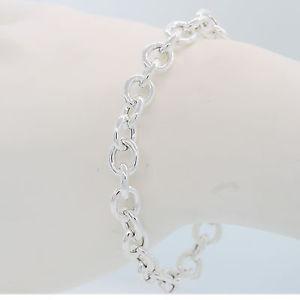 【送料無料】ブレスレット アクセサリ― クラシックリンクブレスレットスターリングシルバーイタリアインチclassic link bracelet sterling silver 75 inch made in italy