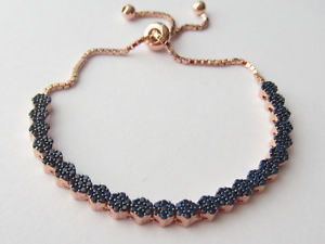 【送料無料】ブレスレット アクセサリ― turqueローズen925saphir reglableテニスブレスレットturque plaqu or rose en argent sterling 925 saphir rglable tennis bracelet