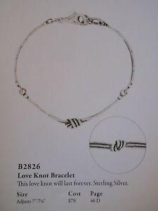 【送料無料】ブレスレット アクセサリ― silpadaジュエリー925スターリングブレスレットb2826silpada jewelry love knot 925 sterling silver bracelet retired b2826