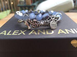 【送料無料】ブレスレット アクセサリ― アレックスビンテージビーズシルバーラップnwt alex and ani vintage 66 deep sea navy seahorse beaded silver wrap