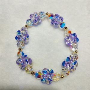 【送料無料】ブレスレット アクセサリ― ブレスレットfashion bracelet blue crystal beads colorful bracelet
