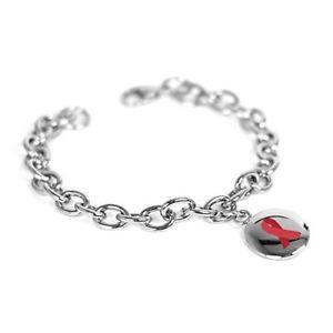 【送料無料】ブレスレット アクセサリ― myiddrレッドブレスレット oリンクmyiddr custom engraved red awareness charm bracelet steel olink