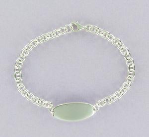 【送料無料】ブレスレット アクセサリ― idブレスレット712インチスターリング925イニシャルid bracelet 712 inch sterling silver 925 engrave name identity initials