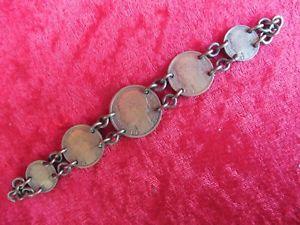 【送料無料】ブレスレット アクセサリ― アンティークブレスレットフランスnice, antique bracelet__ from old, french coins 19311941_