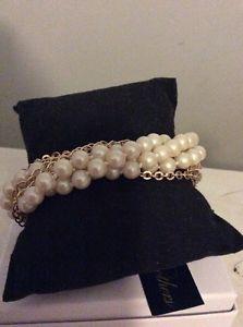 【送料無料】ブレスレット アクセサリ― ドルブルックスブラザーチェーンパールブレスレット4950 brooks brother chain and pearl bracelet