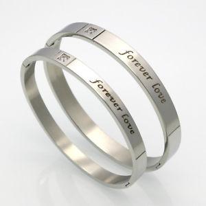 【送料無料】ブレスレット アクセサリ― バレンタインブレスレットカップルブレスレットvalentines bracelets his amp; hers couple braceletsset forever love 316l