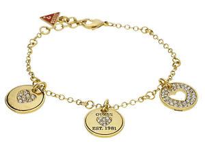 【送料無料】ブレスレット アクセサリ― レディースブレスレットメタルゴールドguess ladies bracelet metal gold ubb81145