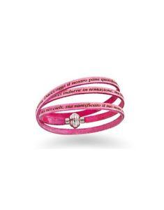 【送料無料】ブレスレット アクセサリ― ブレスレットアーメンピンクbracelet amen our father leatherpnit 0454 pink