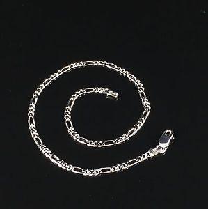 【送料無料】ブレスレット アクセサリ― スターリングシルバーソリッドホワイトレディースフィガロブレスレットチェーン925 sterling silver solid white womens figaro bracelet chain 10 24gr