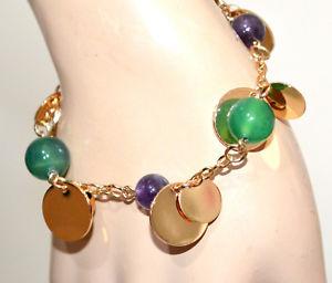 【送料無料】ブレスレット アクセサリ― レディースゴールドゴールドブレスレットペンダントグリーンブレスレットladies gold gold bracelet pendants stones purple wisteria green bracelet gp10