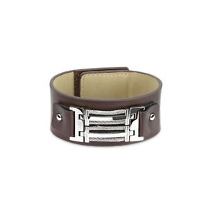 【送料無料】ブレスレット アクセサリ― メンズブラウンレザーブレスレットmens brown leather bracelet noose