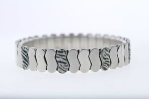 【送料無料】ブレスレット アクセサリ― ステンレススチールゼブラエナメルブレスレットstainless steel 12mm zebra print enamel expandable bracelet