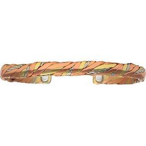 【送料無料】ブレスレット アクセサリ― セルジオブレスレットアメリカsweatlodge sergio lub brushed copper magnetic therapy bracelet made in usa