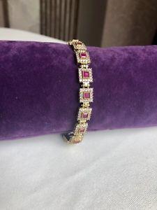 【送料無料】ブレスレット アクセサリ― トルコルビーブレスレットリンクチェーンスターリングシルバーテニスブレスレットturkish ruby bracelet link chain 925 sterling silver tennis bracelet jewelry