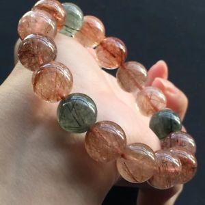 【送料無料】ブレスレット アクセサリ― ルチルクリスタルビーズストレッチブレスレット135mm natural color rutilated quartz stretch crystal beads bracelet