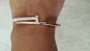 【送料無料】ブレスレット アクセサリ― ブレスレットステンレススチールローズゴールドブレスレットbeautiful women bracelet, stainless steel rose gold bracelet, pave crystal stone