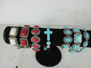 【送料無料】ブレスレット アクセサリ― ターコイズコーラルブレスレット7 x howlith stone turquoise coral bracelets armkettchen old antique look