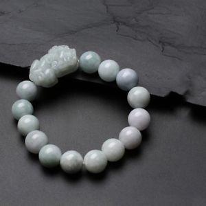 【送料無料】ブレスレット アクセサリ― ビーズブレスレットcertified natural handcarved pixiu whitegreen jadite beads bracelet jewelry