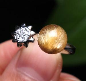 【送料無料】ブレスレット アクセサリ― ルチルチタンクリスタルビーズリング86mm natural gold rutilated quartz titanium crystal beads ring aaaa