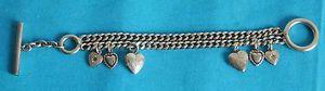 【送料無料】ブレスレット アクセサリ― ブレスレットヴィンテージシルバーmetal charm bracelet vintage silver