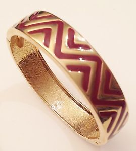 【送料無料】ブレスレット アクセサリ― ゴールドカラーブレスレットアールデコエナメルgold coloured bracelet signed rigid wide deco enamel quality 269