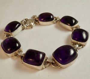 【送料無料】ブレスレット アクセサリ― スターリングシルバーアメジストブレスレットsterling silver bracelet with amethyst