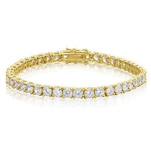 【送料無料】ブレスレット アクセサリ― ラウンドカットmmスターリングシルバーテニスブレスレットround cut 4mm cz sterling silver tennis bracelet gold plated