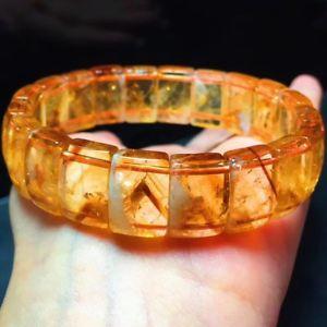 【送料無料】ブレスレット アクセサリ― gシトリンピラミッドビーズブレスレット40g natural yellow citrine pyramid quartz crystal rectangular beads bracelet