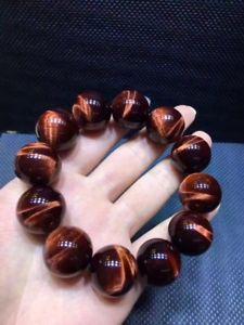 【送料無料】ブレスレット アクセサリ― レッドタイガーアイラウンドビーズブレスレット20mm natural red tigers eye stone round beads stretchy braceletaaa