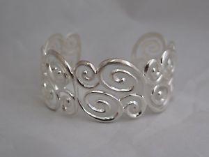 【送料無料】ブレスレット アクセサリ― モダンデザイナーカフブレスレットmodern designer sterling filigree cuff bracelet