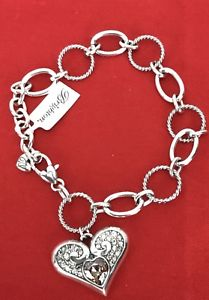 【送料無料】ブレスレット アクセサリ― ブライトンクリスタルシルバーブレスレットbrighton alacazar glam heart crystal silver bracelet crystals bling