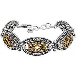 【送料無料】ブレスレット アクセサリ― ブライトンゴールドシルバークリスタルリンクブレスレットbrighton castillo nwt gold and silver crystal link bracelet