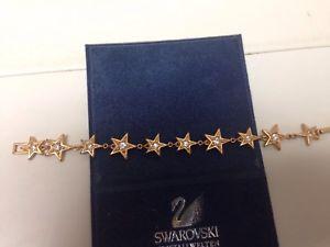 【送料無料】ブレスレット アクセサリ― スワロフスキーブレスレットswarovski goldplated star bracelet euc